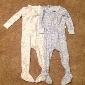 Cotton footie pajamas